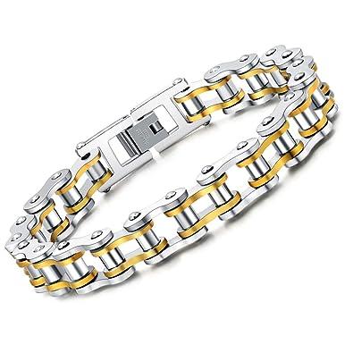 faysting EU pulsera cadena de acero inoxidable moto personalizada Roca Estilo de los hombres