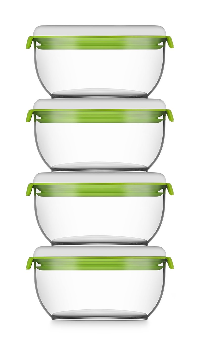 FOSa Food Storage Set of 4 Small Vacuum canisters FOSA HOME 40600