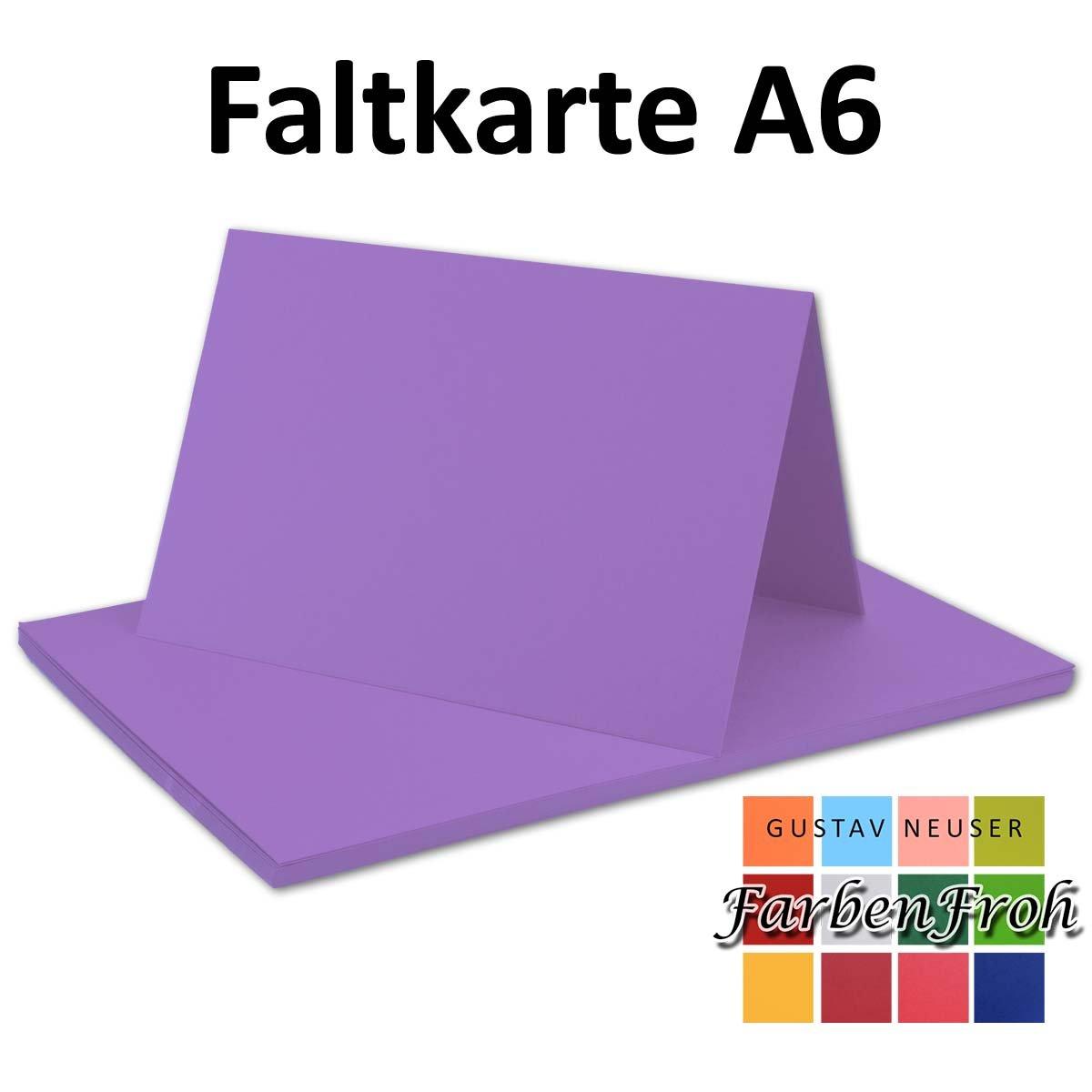 250x Falt-Karten DIN A6 Blanko Doppel-Karten in in in Hochweiß Kristallweiß -10,5 x 14,8 cm   Premium Qualität   FarbenFroh® B079VJXHG3 | Discount  6ea373