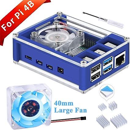 GeeekPi Raspberry Pi 4 Caja con Ventilador, Raspberry Pi 5V 3A EU Cargador con Conector ON/Off y Raspberry Pi Disipador para Raspberry Pi 4 Modelo B: Amazon.es: Electrónica