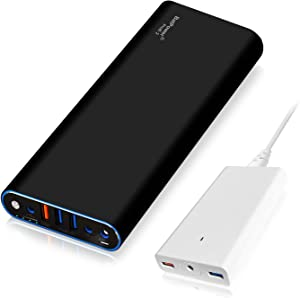 BatPower ProE 2 EX15B Portable Charger External Battery Power Bank for Apple MacBook Pro MacBook Air Mac Retina 2006-2015 Laptop, QC 3.0 USB Ports Fast Charging for Tablet and Smartphone -210Wh