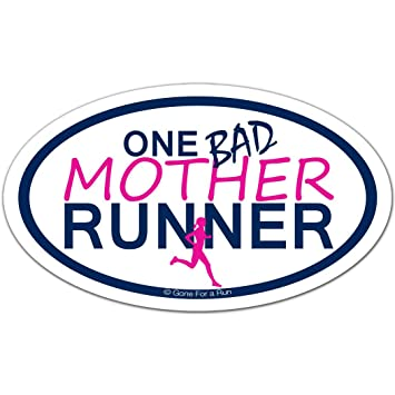 Amazon.com: Gone For a Run Running Car Magnet | One Bad ...