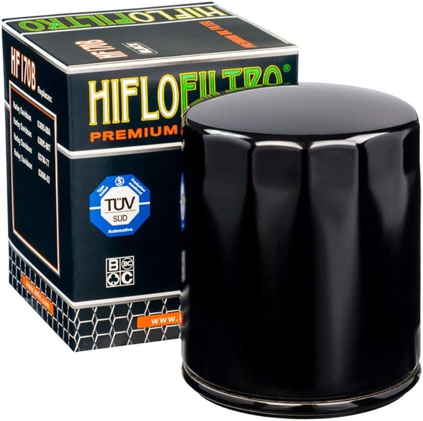Hiflo HF170 Oil Filter XL C Sportster Custom XL2//CP2 07 Black
