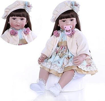 Amazon.es: Pinky Reborn 24 Pulgadas 60cm Realista Muñecos bebé Renacer Bebé Hermosa Muñeca Silicona Bebe Reborn Toddler Niña Recien Nacido (Item 9): Juguetes y juegos