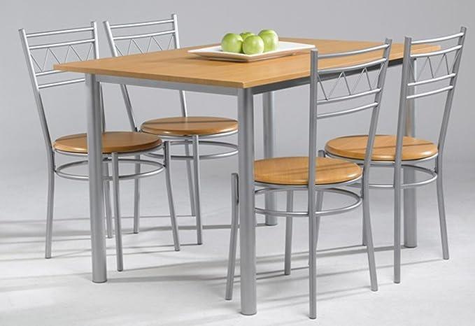 Kit Closet Conjunto Anillo de Mesa de Cocina + 4 sillas