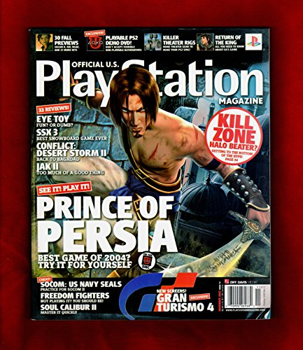 PlayStation Magazine - November, 2003, #74, with OPM Demo DVD, Champions of Norrath Poster, Medal of Honor Rising Sun Draft Card. Prince of Persia, Gran Turismo 4, Conflict: Desert Storm II, Jak II, SOCOM: U.S. Navy Seals, Soul Caliber II, Freedom F