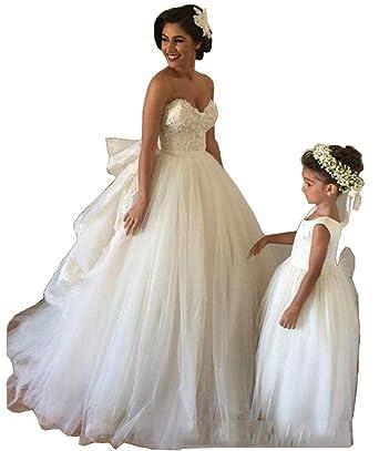 Tsbridal Ball Gown Wedding Dresses 2017 Sweethear Lace Bridal DressesXC273-Ivory2