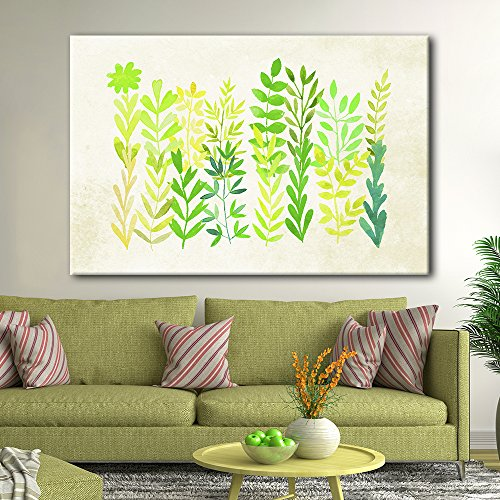 Watercolor Style Green Leaves Gallery