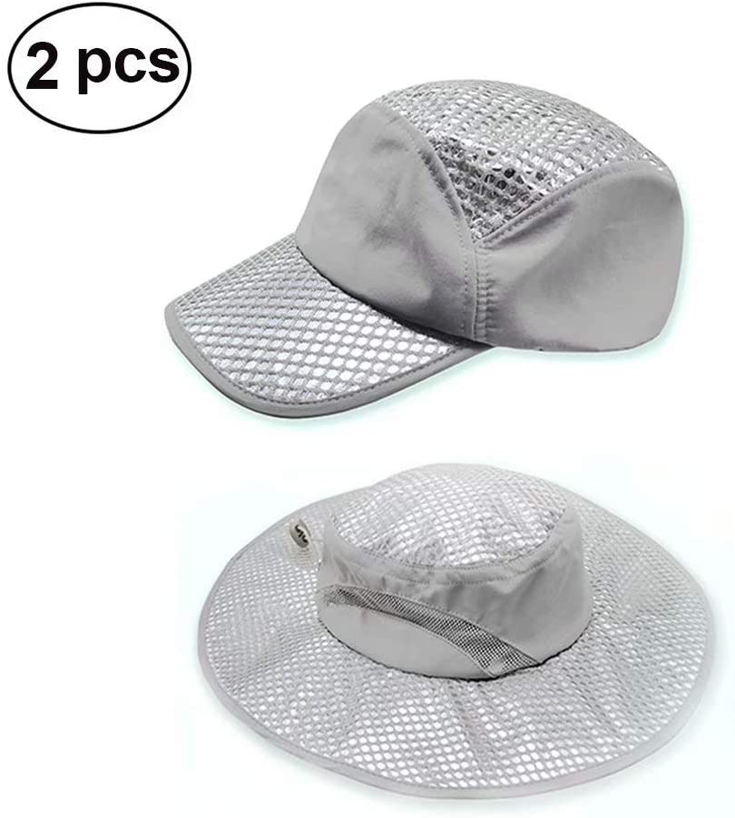Julvie 2 Packs Evaporative Cooling Hat Summer Ice Cap Sun Hat Cooling Hat for Women Men