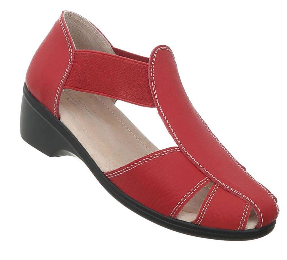 Damen Schuhe Sandalen Leder Pumps39 EU|Modell Nr1rot