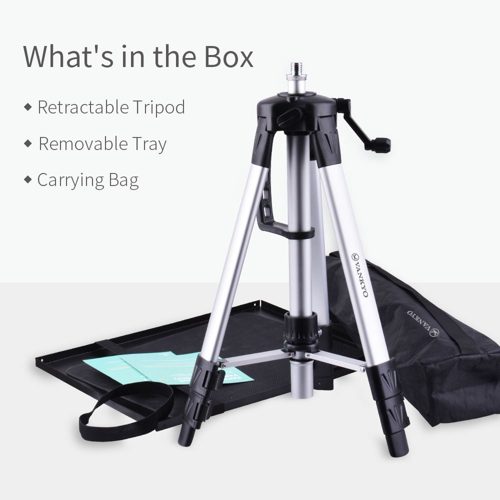 VANKYO Aluminum Tripod Projector Stand, Adjustable Laptop Stand, Multi-Function Stand, Computer Stand Adjustable Height 17'' to 46'' for Laptop with Plate and Carrying Bag (1-Silver) by vankyo (Image #8)