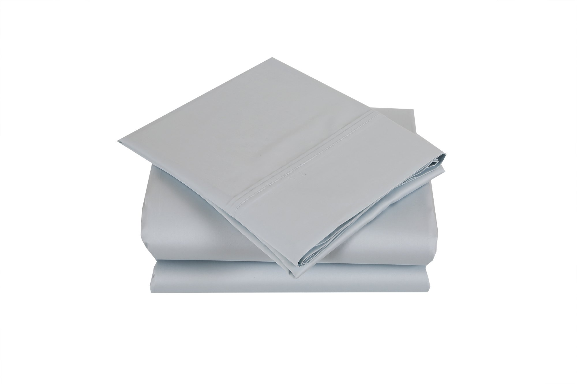 Affluence 700 Thread Count 100% Long-Staple Premium Cotton Sheet Set (California King Sheet Set, Spa Blue)