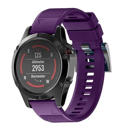 para Garmin Fenix 5 Reloj GPS,Sustitución de Silicagel Correa de Banda de