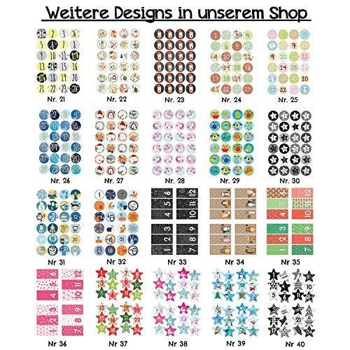 Papierdrachen Advent calendar 24 paper bags with stickers pink design rectangular 36
