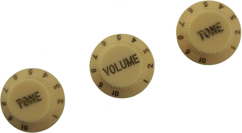 2 NEW Volume Knobs USA Split Shaft For Strat CREAM