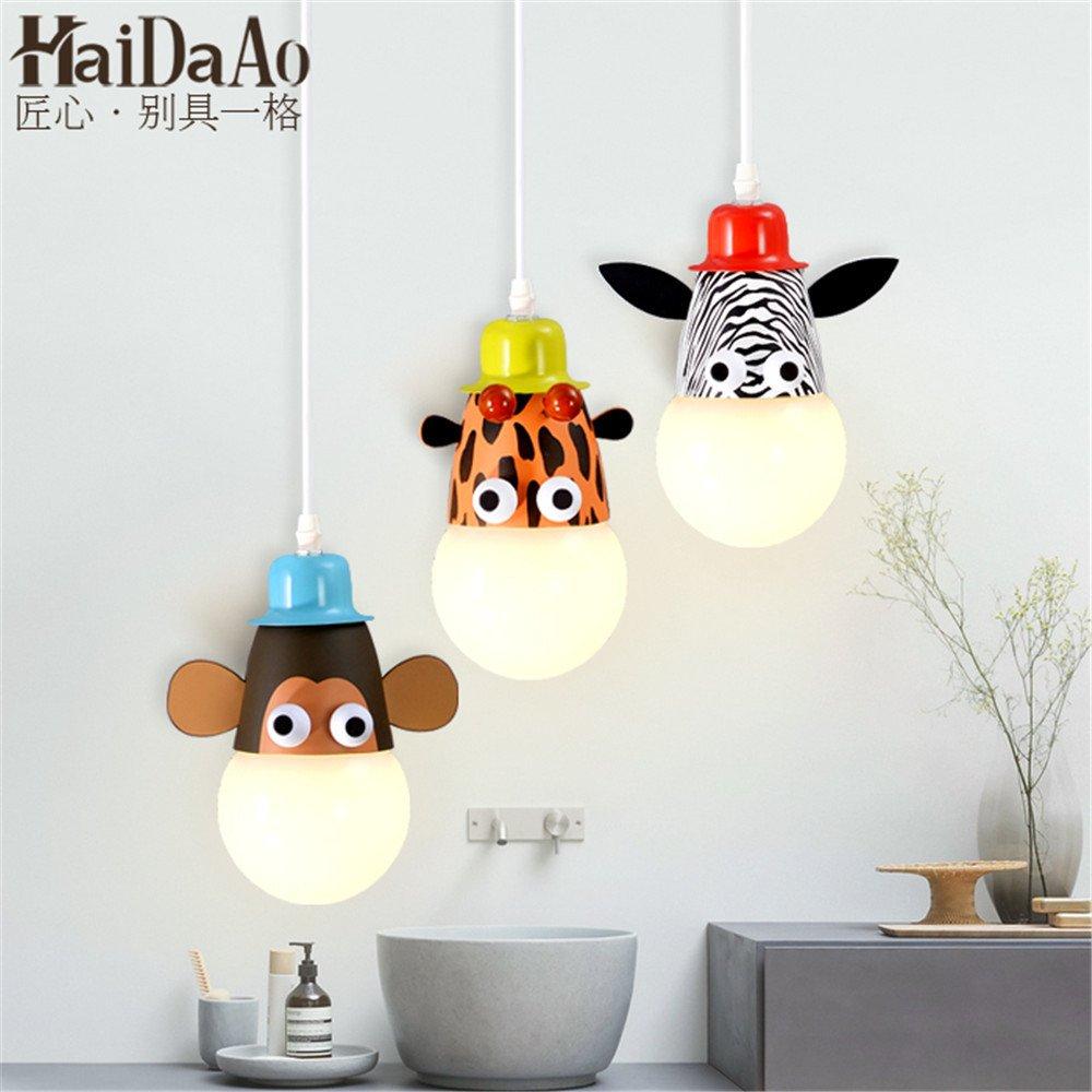 Leihongthebox Ceiling Lights lamp Children's Room light ceiling light boys and girls princess led dimming animal Lamp,