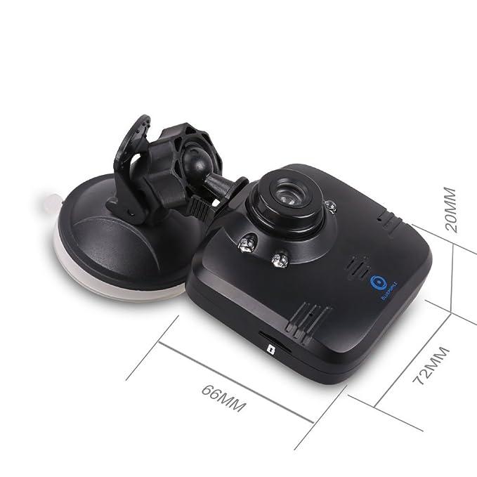 ... del Coche Bluepupile | Cámara para el salpicadero rotable | Super visión nocturna, Monitor de estacionamiento, Grabación en bucle, Sensor de Gravedad, ...