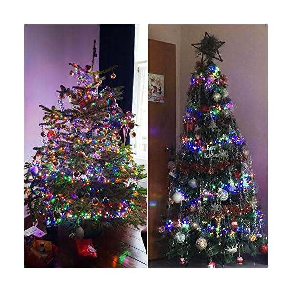ANSIO Luci natalizie per interni e esterno 1000 LED albero luci Multi Colore, 8 modalità con memoria e funzione timer, alimentate, trasformatore incluso 25m Lunghezza illuminata- CAVO VERDE 6 spesavip
