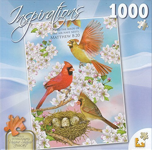Inspirations 1000 Piece Puzzle - Cardinals And Cherry Blossoms by Lafayette Puzzle (Lafayette Cherry)