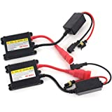 DEW 2PC Universal DC 12V 35W Slim Ballast HID Replacement Conversion Kit for Xenon Light Lamp High Intensity Discharge Light For H1 H3 H4 H7 H8 H9 H1 H11 H13 HB1 HB3 HB4 HB5