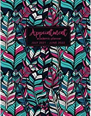 2021-2022 Academic Appointment Planner: Boho Style Cover | July 2021 to June 2022 Academic School Year | Weekly Monthly Planner | Hourly Time 15 Minute Increments | Student Agenda Organizer Schedule