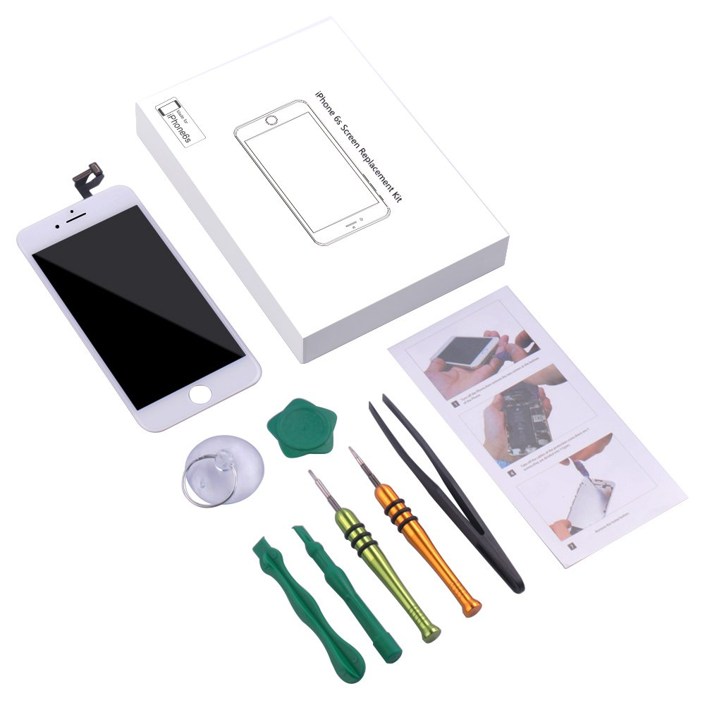 Screen Replacement Compatible iPhone 6S White(4.7inch)Digitizer Repair LCD replacement Kit assembly