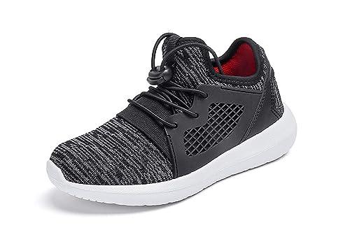 15904478cb495 KVbaby Chaussure de Course pour Enfant Chaussure de Sports Basket Garçon  Fille Respirante Compétition Entraînement Chaussure