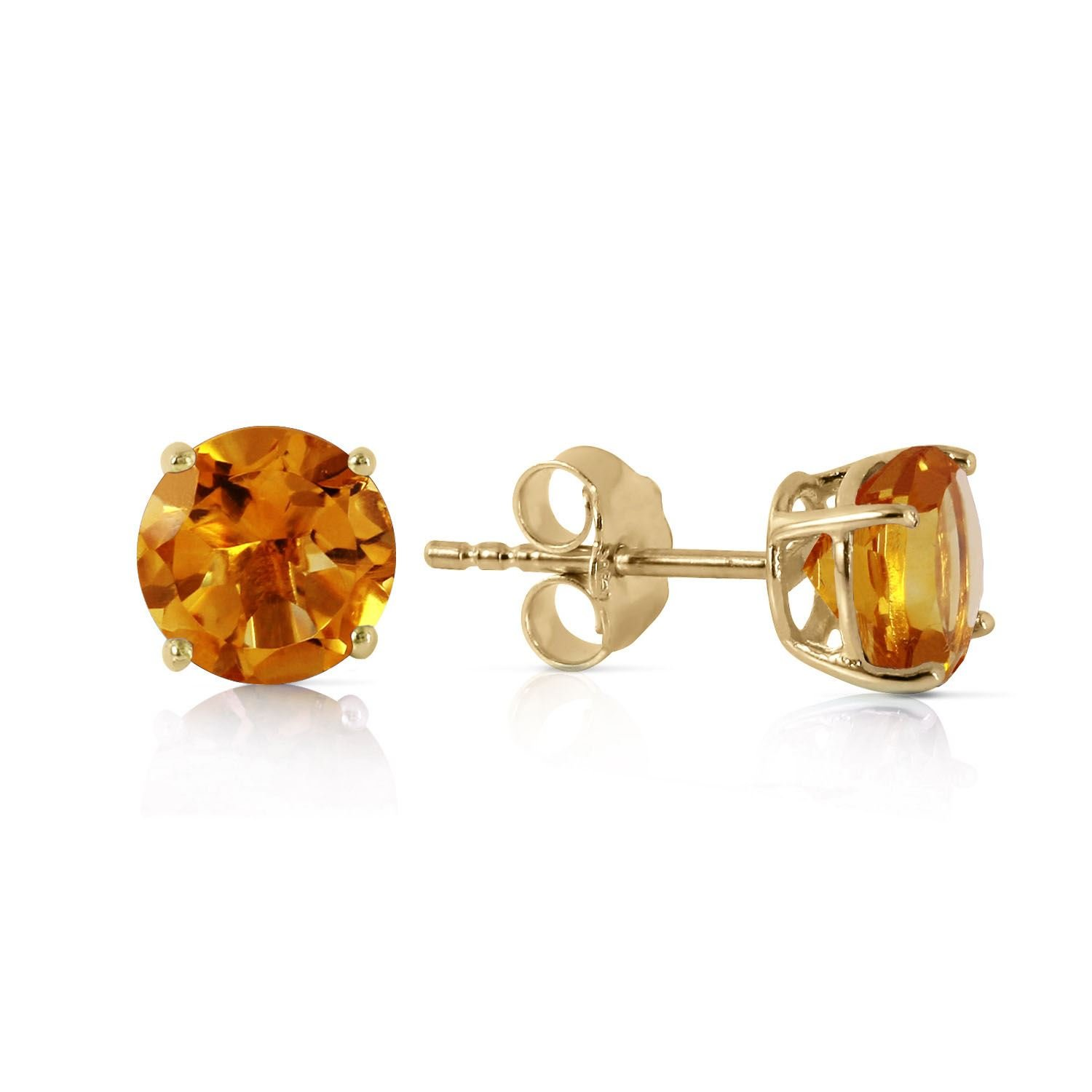 ALARRI 0.95 Carat 14K Solid Gold Somebody To Love Citrine Earrings