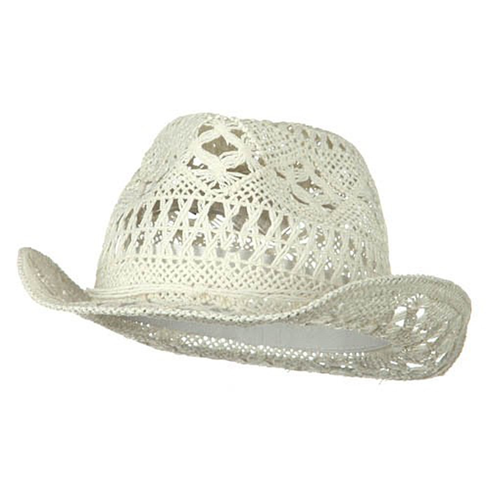 bac116ce Ladies Toyo Fedora Hat - White