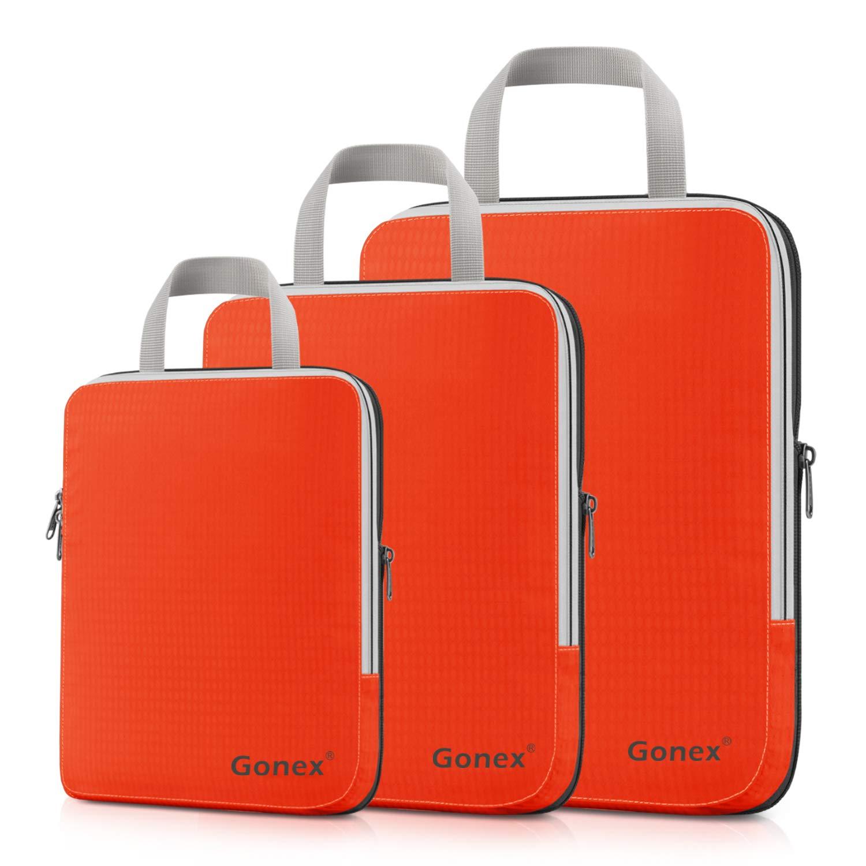 Gonex Organisateur Bagage Compressible de Valise Organiseur Sac Rangement  Lot de 3 product image 35a1781bc43