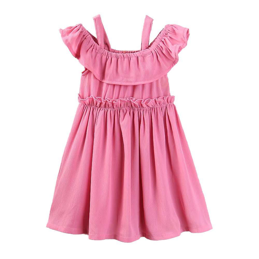 Samgami Baby Parents Girls Clothes Pink Wedding Dress Mom Baby Outfits Matching Clothing (Tag:110/girl/3-4Y)