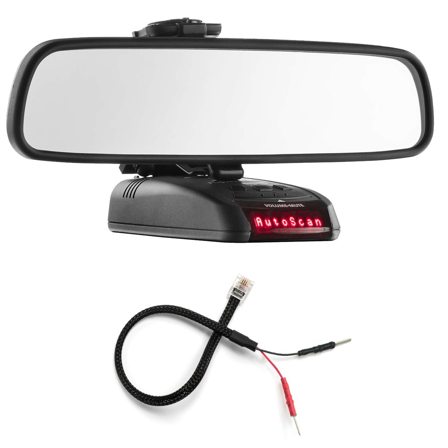 PerformancePackage espejo pantalla plana soporte de Radar Detector + Espejo Cable de alambre - Beltronics RX STI GX65: Amazon.es: Electrónica