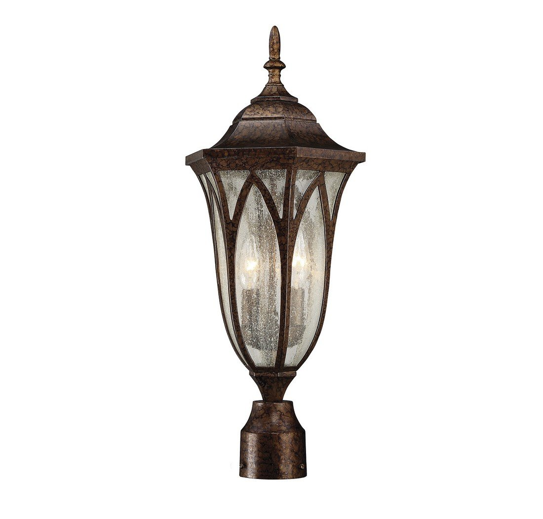 Savoy House 5-1243-56 Dayton 2-Light Post Lantern in New Tortoise Shell by Savoy House (Image #3)