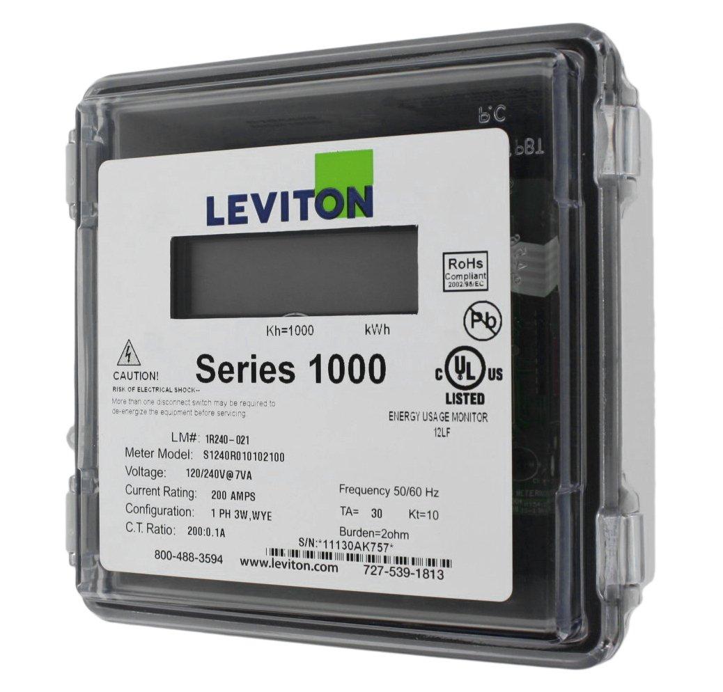 Leviton 1R240-21 Series 1000, Dual Element Meter, 120/208/240V, 2PH ...