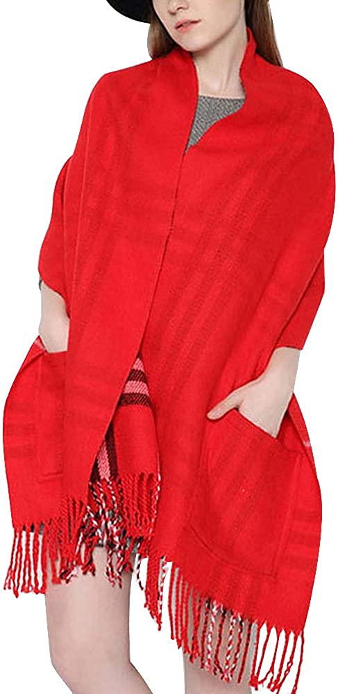 Women's Plaid Shawl Wrap...