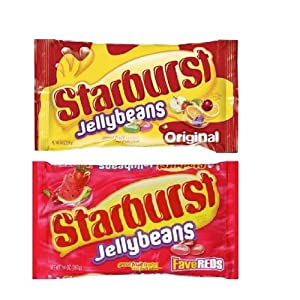 Starburst Fave Reds and Original Jelly Beans (1 Bag of Each