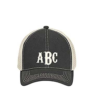 8bac417d4 Monogrammed Comfort Colors Trucker Cap (GRAPHITE/ IVORY) at Amazon ...