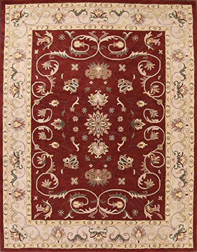 New 10x13 Classical Agra Traditional Oushak Hand Tufted Oriental Area Rug Red (12' 9