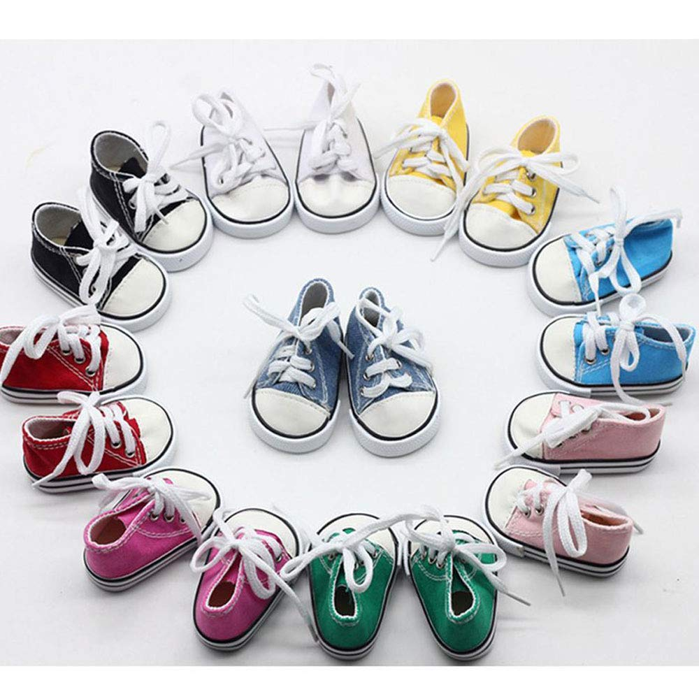 OYTRO 18 Unisex Baby Casual Soft Solid Front Lace-up Cloth Shoes Sneakers