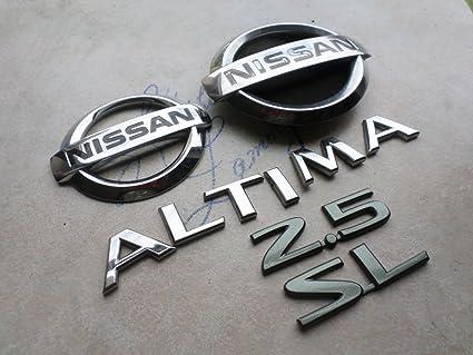 amazon com 03 06 nissan altima 2 5 sl rear trunk emblem logoNissan Altima Emblems #2