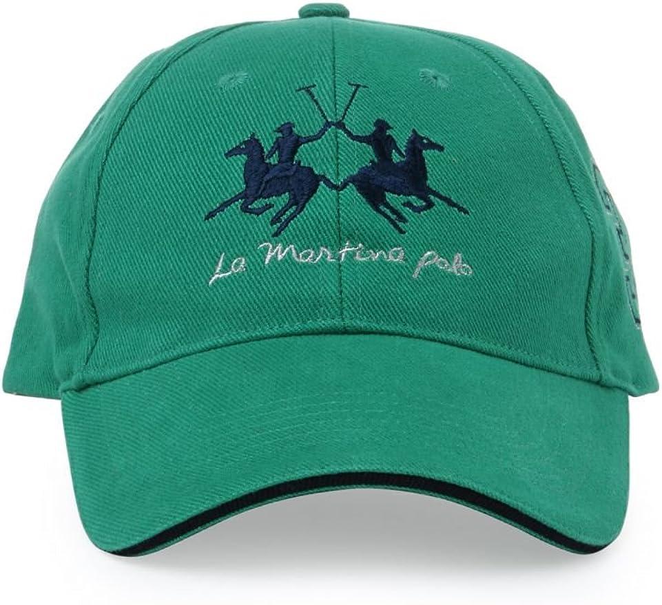 La Martina Gorra de Visera Unisex, Color: Verde, Talla: One Size ...