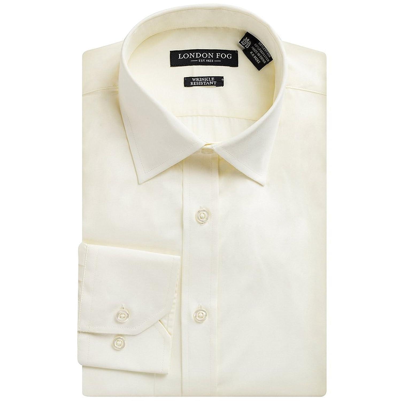 London Fog Mens Modern Fit Long Sleeve Solid Dress Shirt Colors