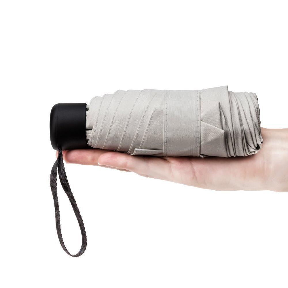 FOONEE Mini Compact Travel Umbrella Lightweight Portable Parasol Umbrella with 95% UV Protection for Men Women Kids Multiple Colors (White)