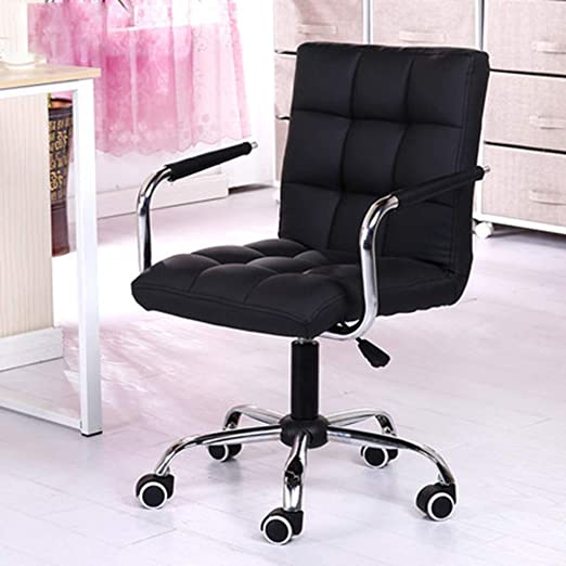 Amazon Com Posture Ergonomic Leather Office Chair Home Lift Chair Office Work Chair Executive Chair And Computer Desk Chair Beauty Salon Chair With Armrests Black Fast Shipped From Us Warehouse Kitchen