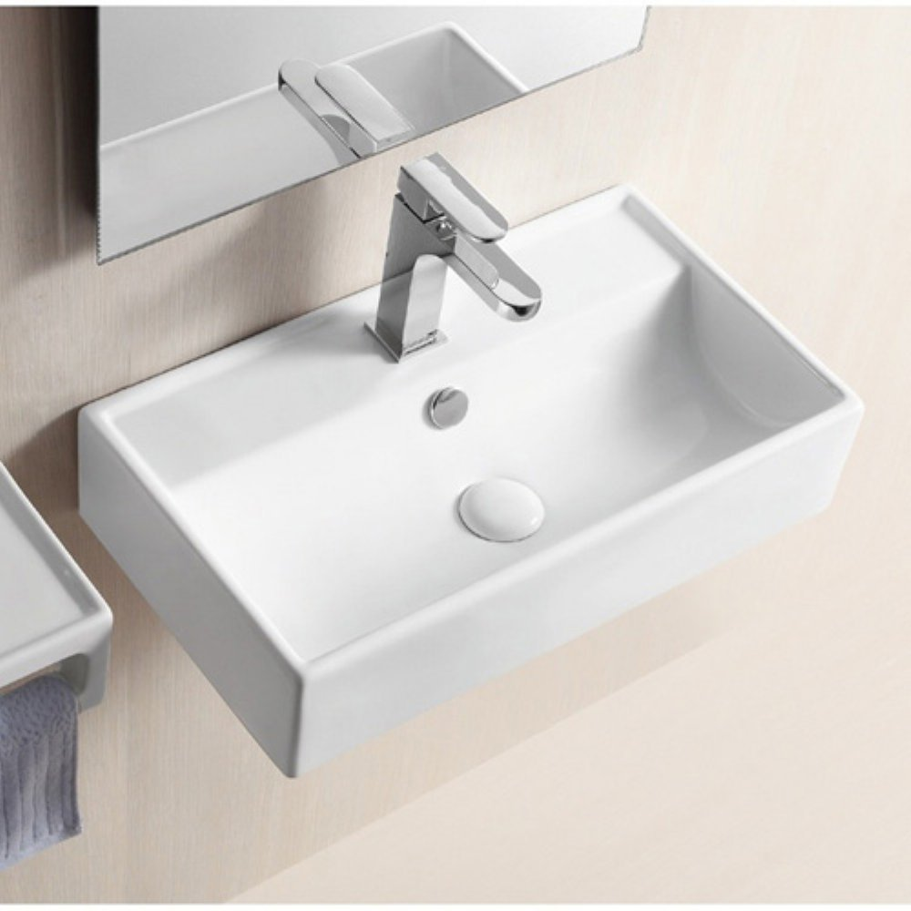 Caracalla CA4335-One Hole-637509849399 Ceramica II Collection Bathroom Sink, White