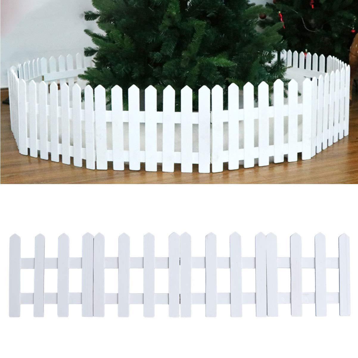 Marrone DOITOOL 1 pz 1.2 m staccionata in Legno per Albero di Natale Decorativo Natale Bianco picchetto Recinzione da Giardino per Natale Albero di Natale Decorazione della Festa Nuziale