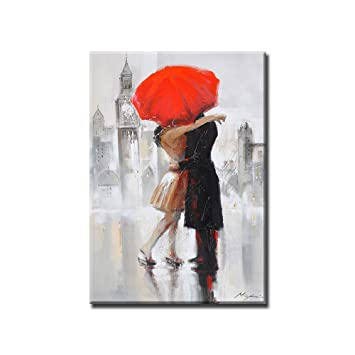 plus récent b2798 6abf5 Gbwzz Ville Amour Couples Rouge Parapluie Baiser câlin À La ...