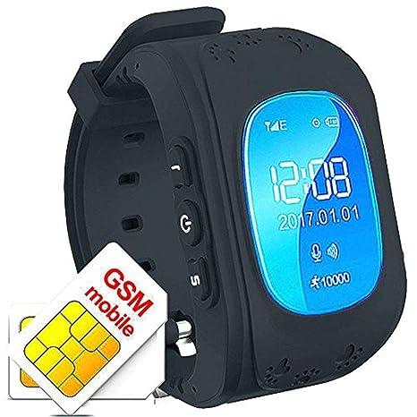 Hangang Rastreador GPS para niños Smartwatch Niños Anti-erra SOS Calling Buscador de niños a Prueba de Agua Rastreo en Tiempo Real, Reloj Smart Kids ...
