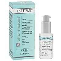 Pharmagel Eye Firme | Eye Gel for Natural Firming, Puffiness, and Wrinkles | Dark Circles Under Eye Treatment | Under Eye Bags Treatment - 1 fl oz