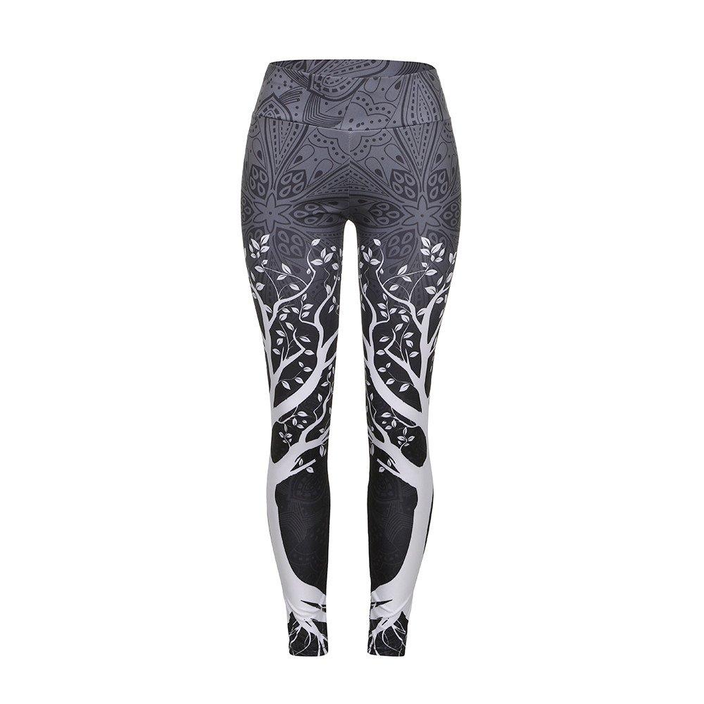 Leggings de Fitnes Yoga Deportes de Alta Cintura Pantalones Deportivos Fannyfuny Leggings Deportivos el/ásticos y Transpirables para Mujer